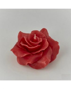 Candela Galleggiante Rosa Rossa d14 durata 13h