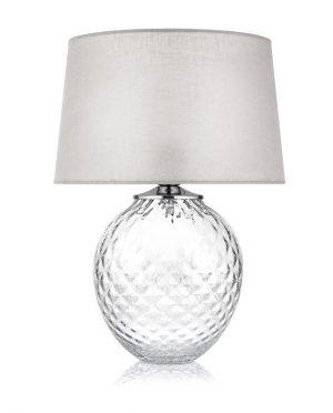 Lampada IVV vetro trasparente decoro in fiore