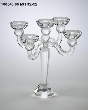 Porta candele Cristallo 5 Bracci H31 32×32