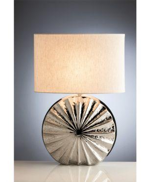 Lampada Gineva in Ceramica Argento cappello Tortora
