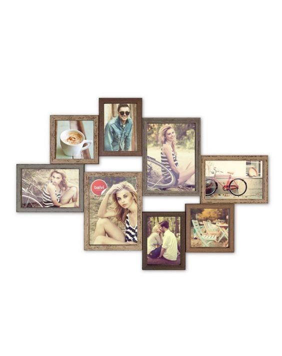 Porta foto Multiplo 8 foto in legno