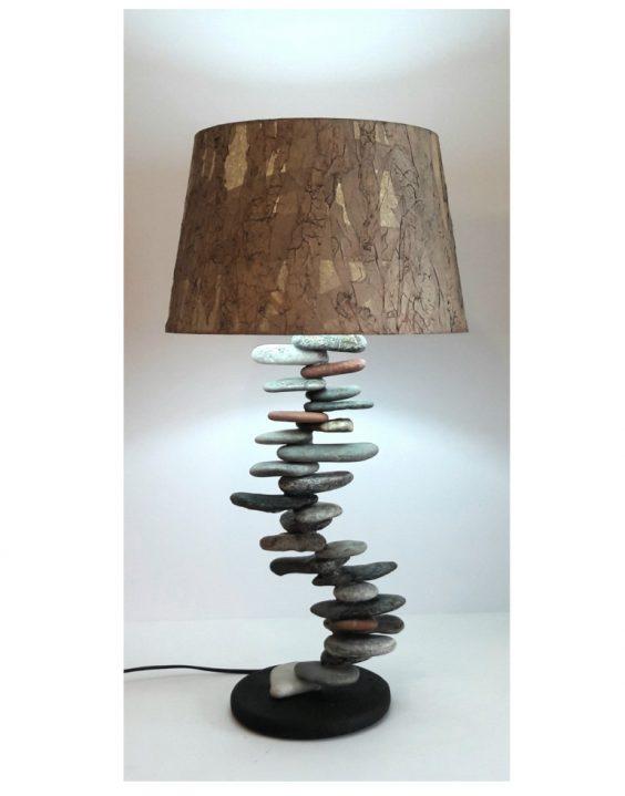 Lampada Pietra Lavica dell'Etna e Pietre di Mare – SERIE CUTILISCI