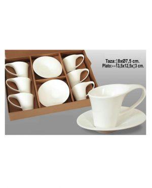 servizio di Caffè con piattino bianco