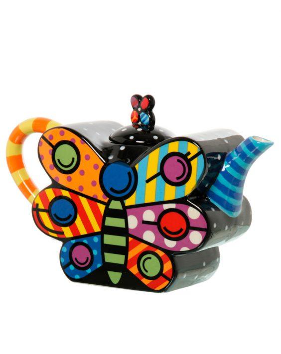 Teiera colorata pop art ceramica