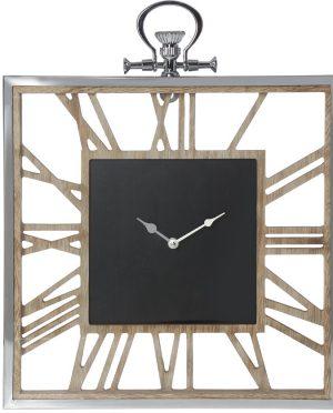 Orologio da parete Camacho legno acciaio numeri romani