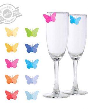 Segnabicchiere farfalla