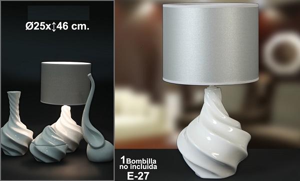 Lampada Onde Ceramica Bianca