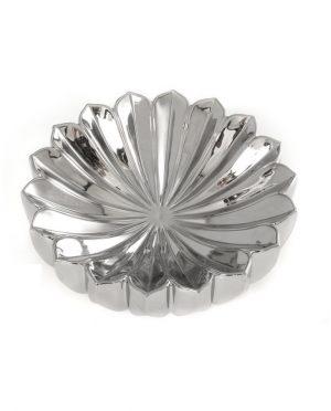 Centro tavola ceramica moderno argento