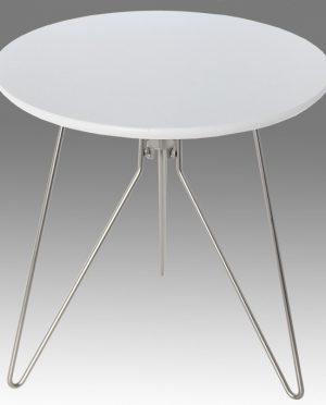 Tavolo rotondo bianco legno acciaio