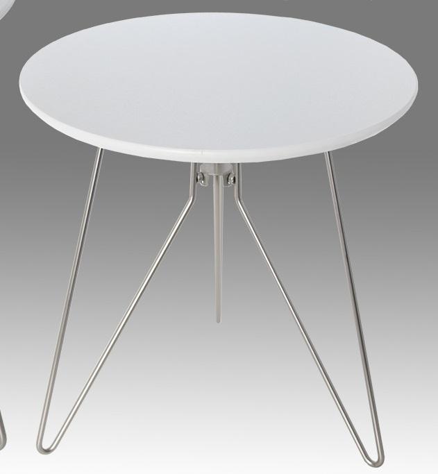 Tavolo Rotondo Legno Bianco.Tavolo Rotondo Bianco Legno Acciaio E20 D Arredo Idee Arredamento A Giardini Naxos