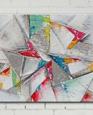 Quadro Linee e colori 140×70