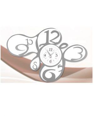 Orologio da parete moderno grigio e bianco