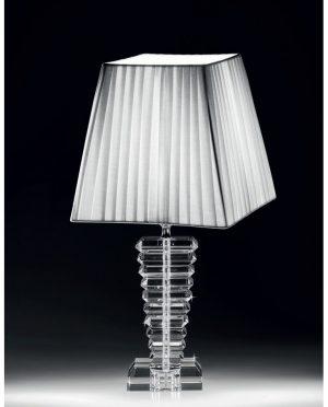 Lampada in Cristallo Paralume in cotone