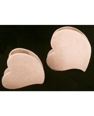 Cuore Tortora Ceramica Grande