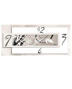 Orologio da parete orizzontale bianco decoro moderno