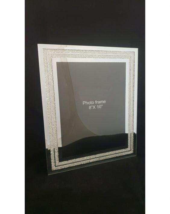 Porta Foto in Vetro con Cristalli