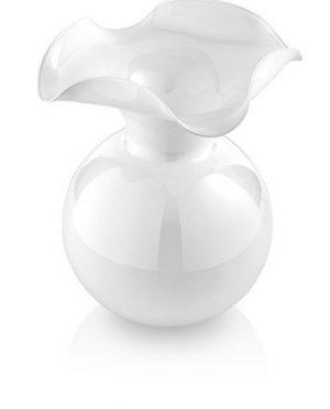 Primula Vaso Bianco in vetro soffiato incamiciato h.29
