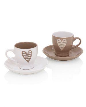 Coppia Tazzine Caffè Batticuore