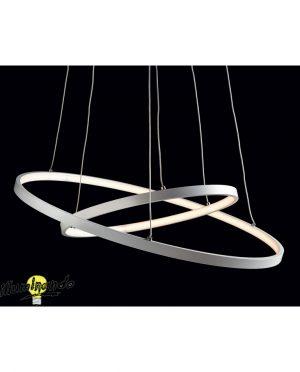 Sospensione a LED Bianca Anelli