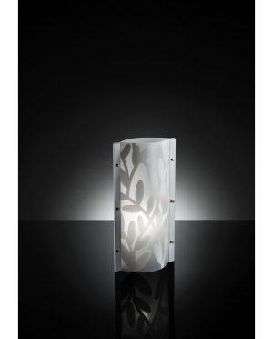 Lampada da Tavolo Dafne Bianco con decoro