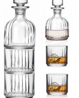 Set Bottiglia con bicchieri da Whisky