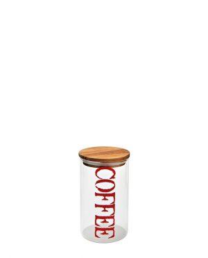 Barattolo Caffè in Vetro e Legno