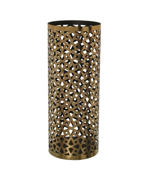 Porta Ombrelli in Metallo Oro Brunito