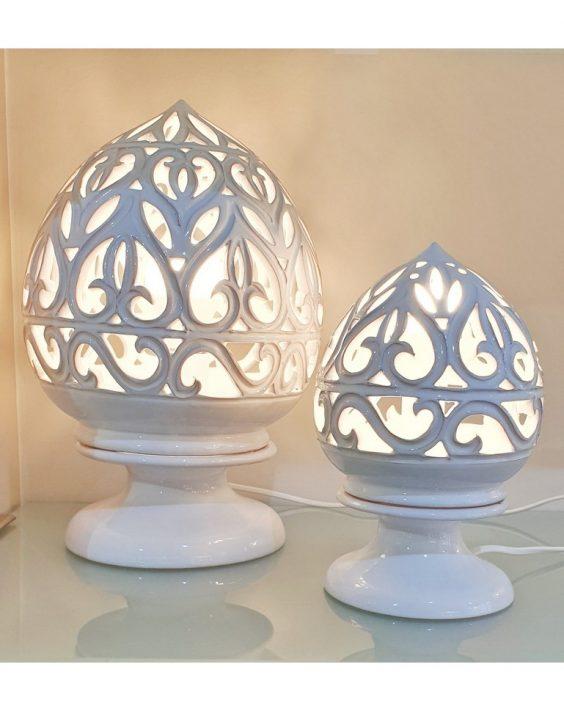 Lampada Traforata in Ceramica Bianca - E20 D'Arredo - Idee ...