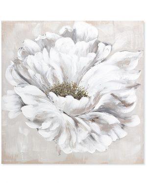 Quadro Fiore Bianco 100 x100