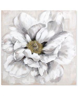 Quadro Fiore Bianco 100 x 100
