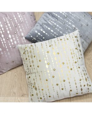 Cuscino Bianco e Oro